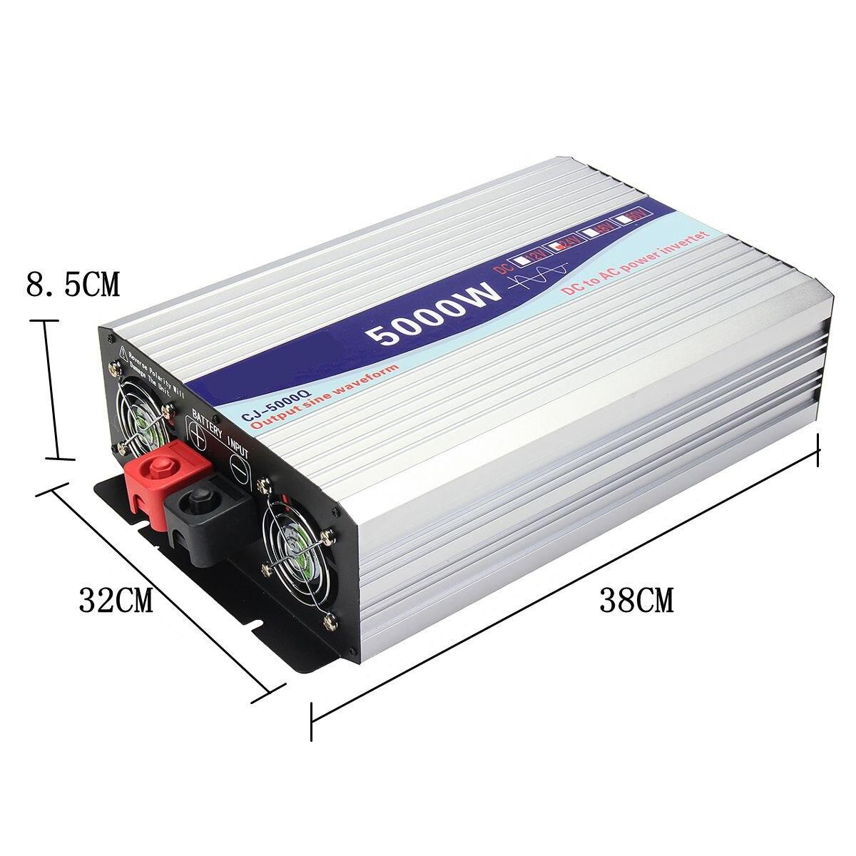 Écran Intelligent pur onduleur à onde sinusoïdale 12 V/24 V à 220 V 3000 W/4000 W/5000 W/6000 W convertisseur écran LCD - 5