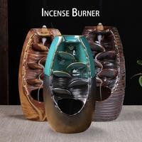 Reflux Incense Burner Ceramic Waterfall Incense Burner Home Decoration Burner Incense Holder