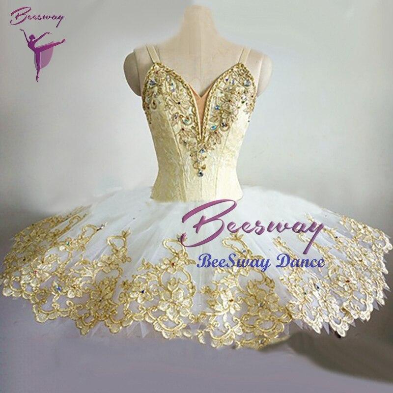 Gold Swan Lake Professional Ballet Tutu Dress Women Ballet Tutu Skirt Sleeping Beauty Ballet Stage Costume For Girls