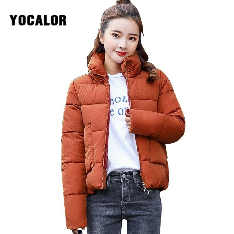 2018 Autumn And Cheap Winter Coats Women's Cotton Cotton-padded Coat Quilted Jacket Women Warm Parka Feminina Outerwear Duck