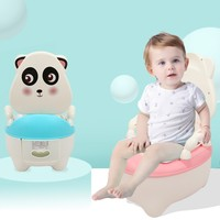 Baby Potty Toilet Bowl Cute Cartoon Training Pan Toilet Seat Children Bedpan Portable Urinal Comfortable Backrest Pot