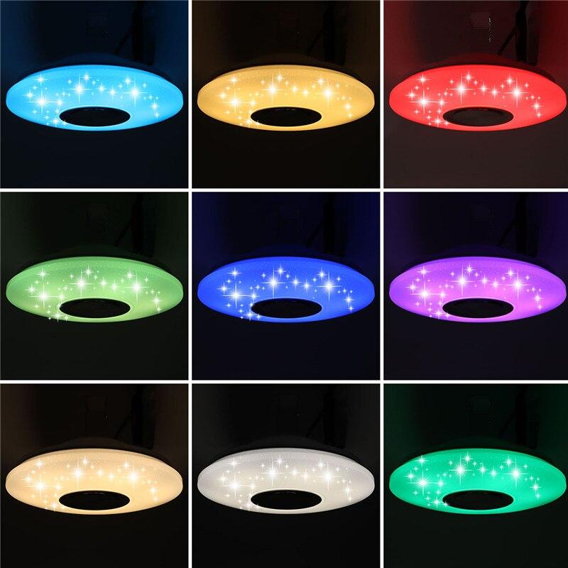 Smuxi 60 w 102LED Bluetooth LED Musique Plafond Lumières Étoilé APP/Télécommande Gradation RGB Bluetooth LED Lampe AC180-240V appareils
