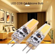 10Pcs AC/DC 12-24V Non-Dimmable LED Bulbs G4 COB LED Light Lamp Bulbs Silicone Lamp Fixtures Warm White/Coll White