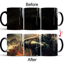 Кружка с принтом dark souls изменение цвета аниме кофейная чашка