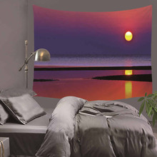 3D Sea Beach Nature Scenery Printed Modern Wall Hanging Tapestry Fashion Bohemian Bedspread Throw Blanket Towel Picnic Mat