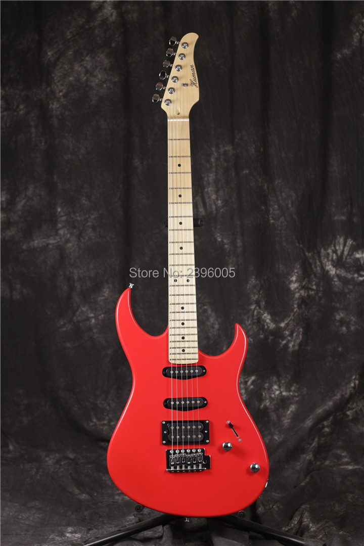 Human brand st electric guitar,red glossy finish,OEM factory direct,Export strat product,real guitar picture free shipping