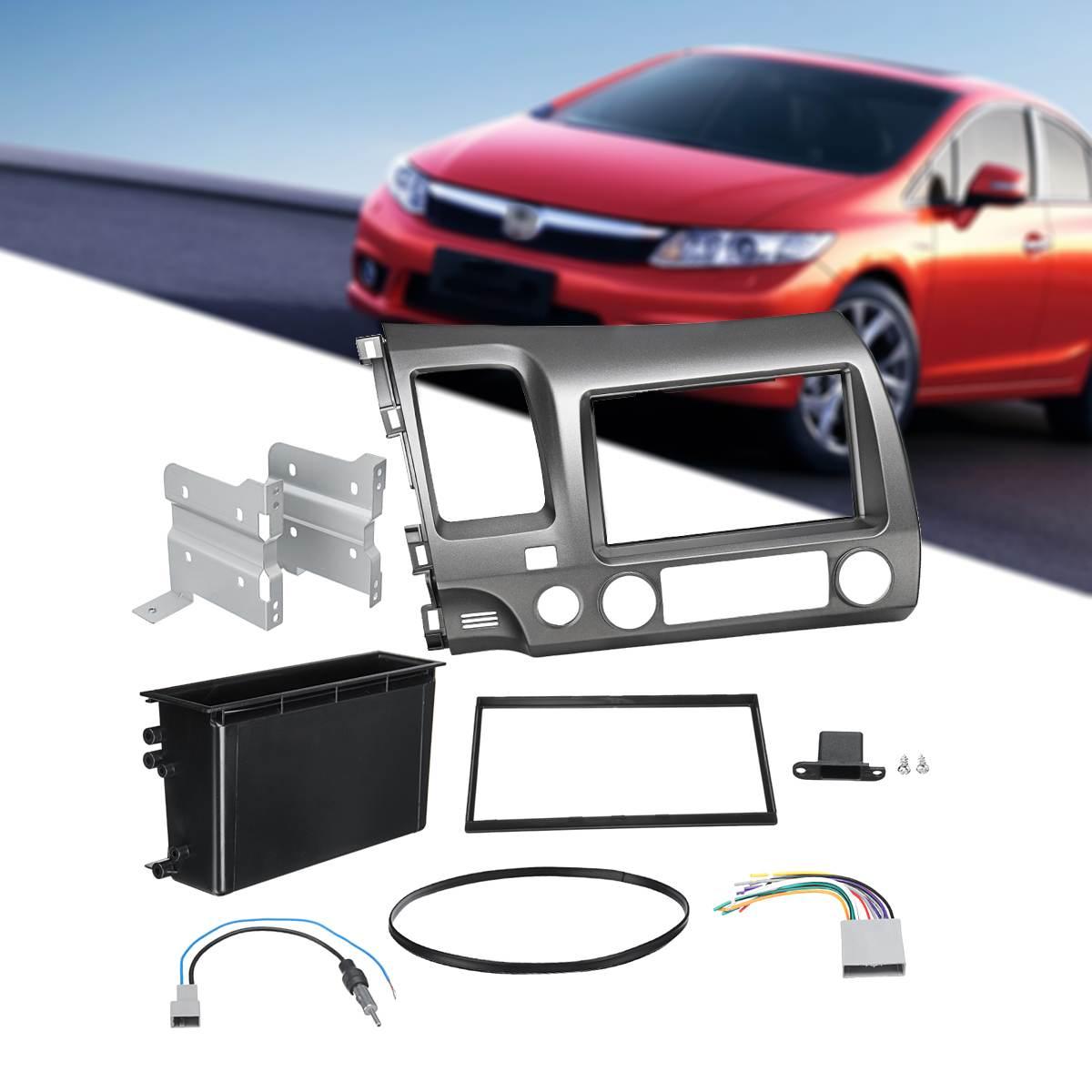 Double Din autoradio Fascia Dash pour Honda pour Civic 2006-2011 DVD CD panneau Face cadre Radio Fascia Kit seulement pour la conduite à gauche