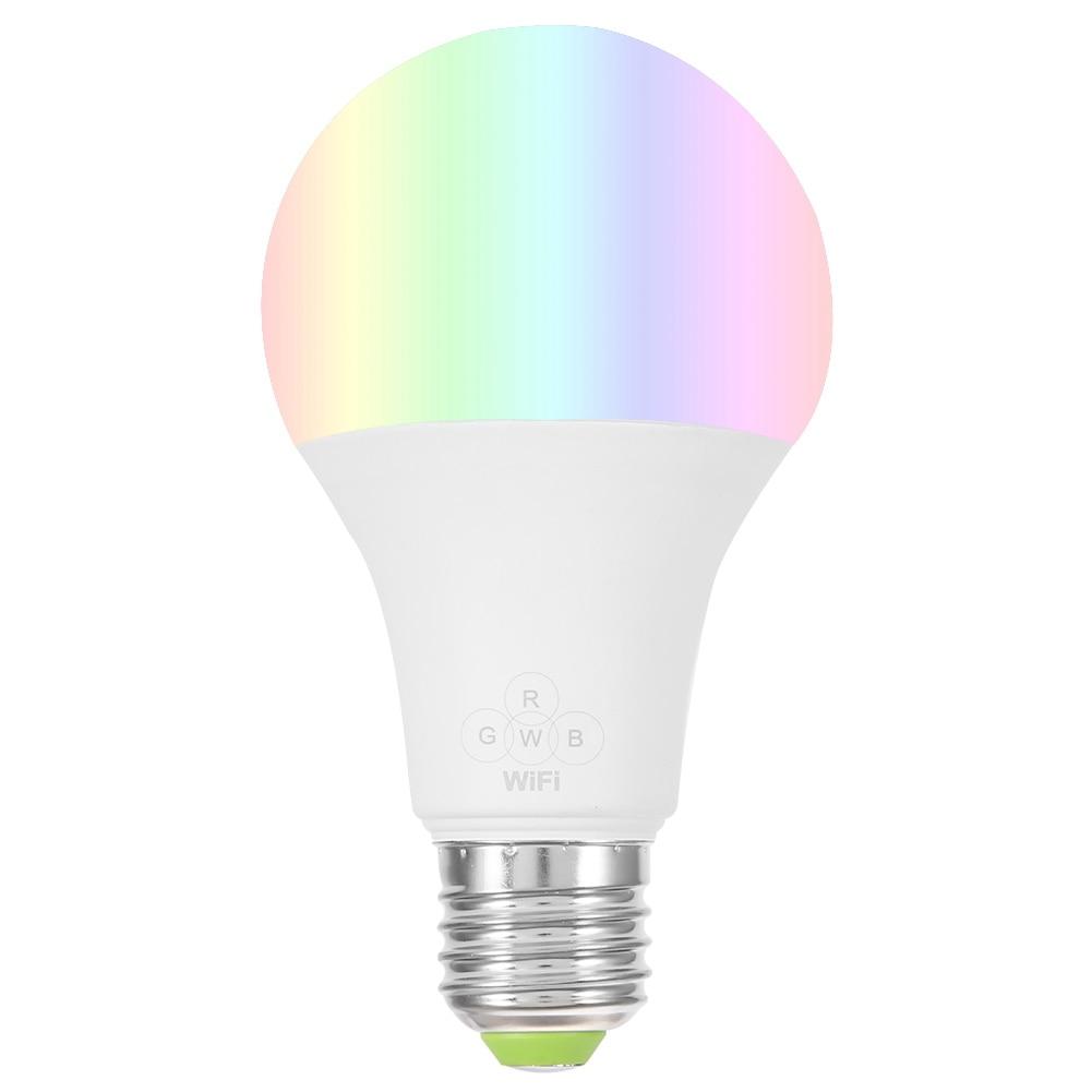 E27 Smart WiFi Bulb RGBW Multicolor Dimmable LED Light App Remote Control