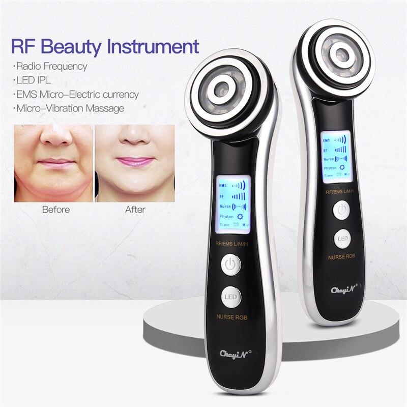 Visage Photon RF radiofréquence EMS mésothérapie thérapie par la lumière LED ultrasons Vibration levage rajeunissement de la peau masseur ferme