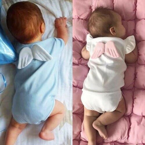 0-18 M Neugeborenen Baumwolle Romper Baby Jungen Mädchen Kleinkinder Kleidung Flügel Romper Overall Kleinkind Baumwolle Overall Sunsuit Der Preis Bleibt Stabil