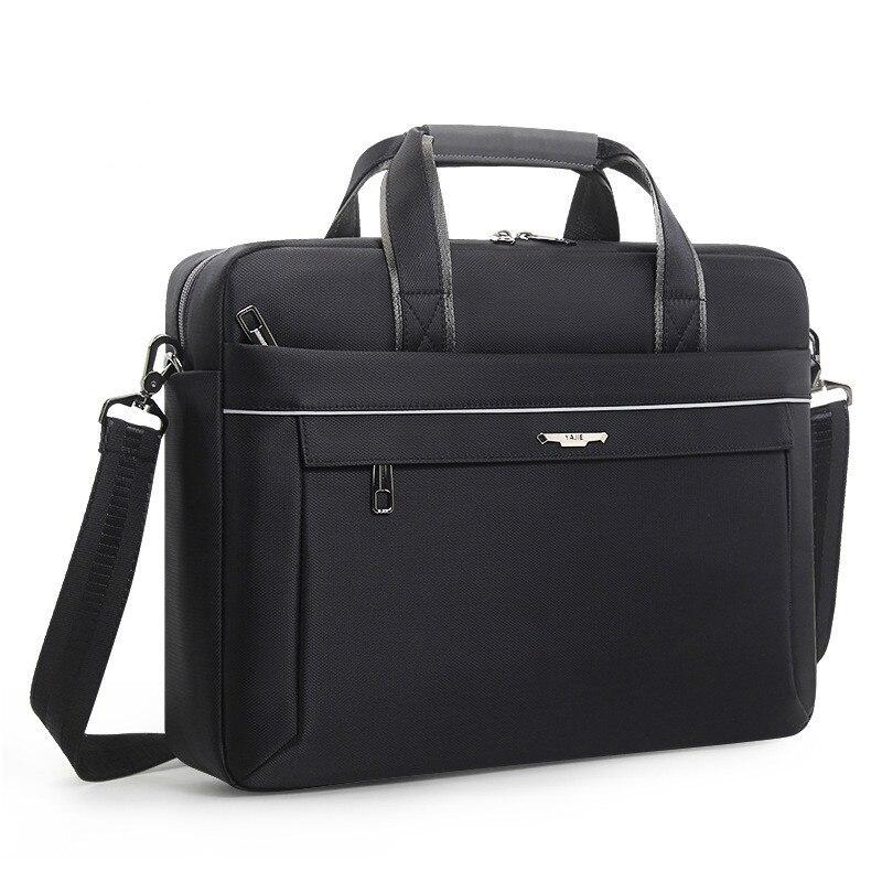 Men s Briefcase Single Shoulder Bag Computer Notebook Bag Concise Business Travel Meeting Work Bags Men