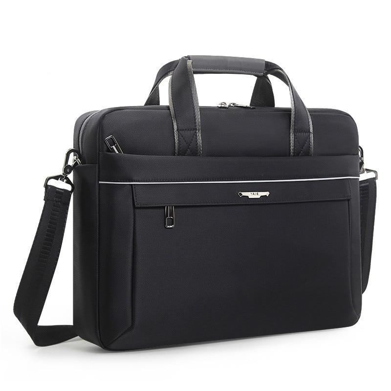 Men's Briefcase Single Shoulder Bag Computer Notebook Bag Concise Business Travel Meeting Work Bags Men 15.6 Inch Laptop Bags