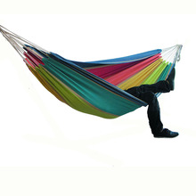 Two-person Hammock Camping Thicken Swinging Chair Outdoor Hanging Bed Canvas Rocking Chair Not with Hammock Stand 200*150cm 2018 nordic style portable fashion round hammock dormitory bedroom kids adult swinging hanging single chair hammock
