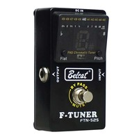 SEWS Belcat Guitar Pedal Tuner Bass Tuner Effects Pedal FTN 525 Chromatic Pedal Tuner LCD display