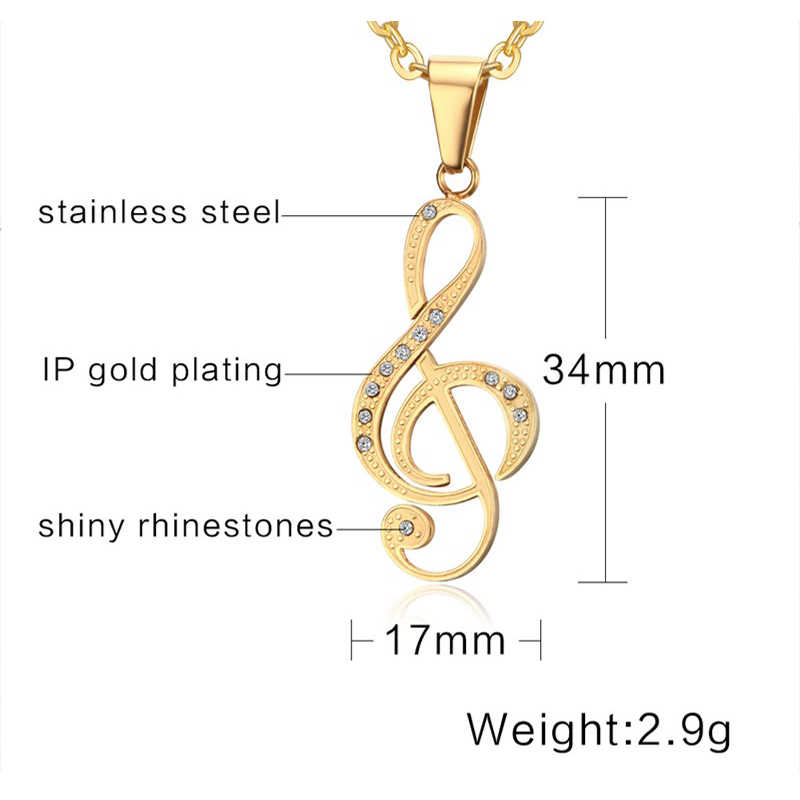 Colar de pingente de aço inoxidável 3 cores opção colar de pingente de aço inoxidável