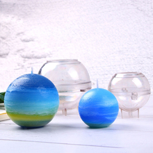 1 шт., прозрачная Пластиковая форма для свечей, сделай сам, мыльная глина, инструменты для рукоделия, Свеча ручной работы, модель формы 6 см/7 см/7,5 см, форма для свечей, сфера