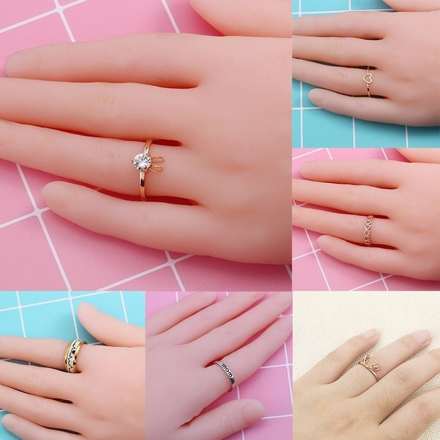 Which Hand Wedding Ring Female.Us 0 74 30 Off Trendy Women Rings Rose Gold Color Heart Shaped Wedding Ring Female Silver Rings For Woman Jewelry Dropshipping In Rings From Jewelry