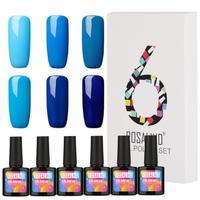 6pcs UV Gel Nail Polish 10ml Women Fashion Nail Art DIY Manicure Decoration Sosk off Home Beauty Salon