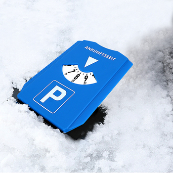 Car Parking Time Sign Parking Time Tools Ice Scraper Snow Remover Car Windshield Snow Shovel Return Time Note Time Display Disc