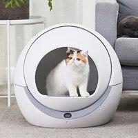 Автоматическая кошка автоматический туалет кошка песочница Индукционная роторная Чистка кошка робот помет Большой котенок самоочищающий