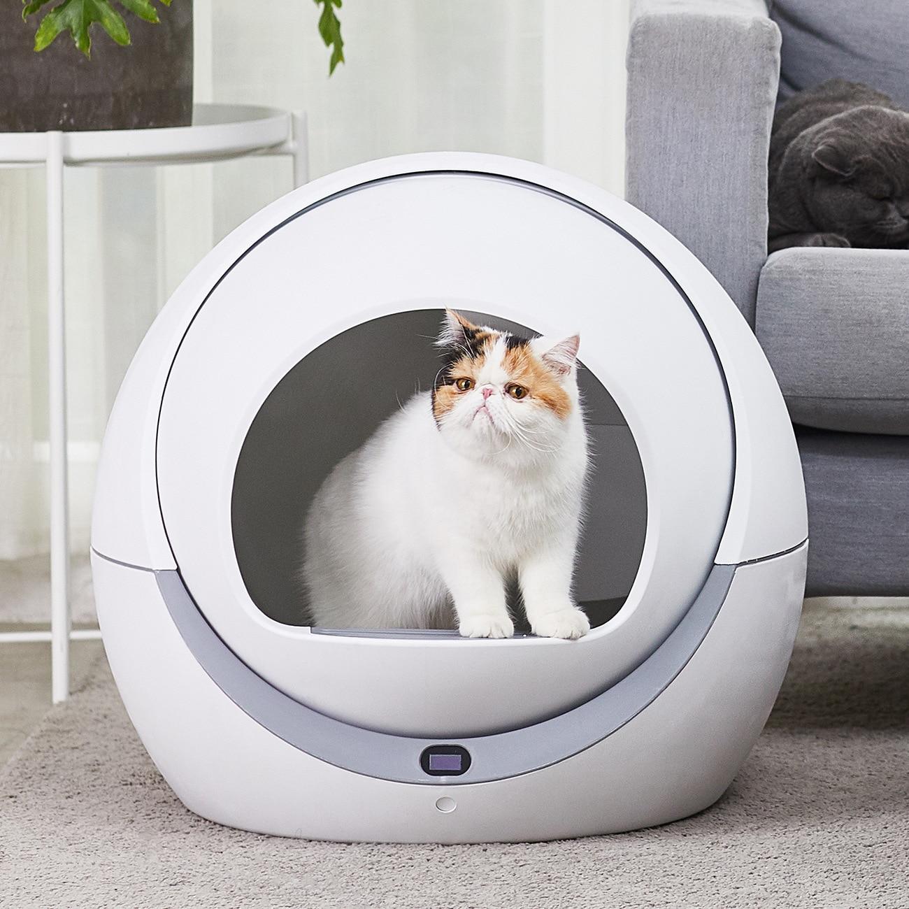 Caixa de areia do toalete do gato gato automática indução rotativa de limpeza automática robô gato ninhada grande gatinho auto limpeza da caixa de maca