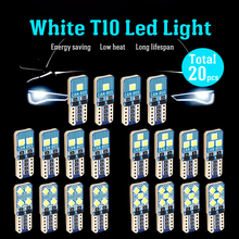 W5W T10 LED CANBUS Bulbs CANBUS error free xWhite Lamp For Car Auto Interior Dome Trunk Light Side Marker License Plate Lights цена в Москве и Питере