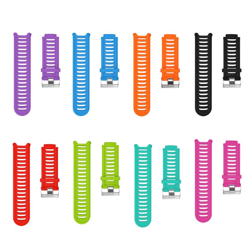 Silicone Adjustable Smart Wristband Bracelet Watch <font><b>Strap</b></font> Replacement Training Sports for <font><b>Garmin</b></font> Forerunner <font><b>910XT</b></font> GPS image