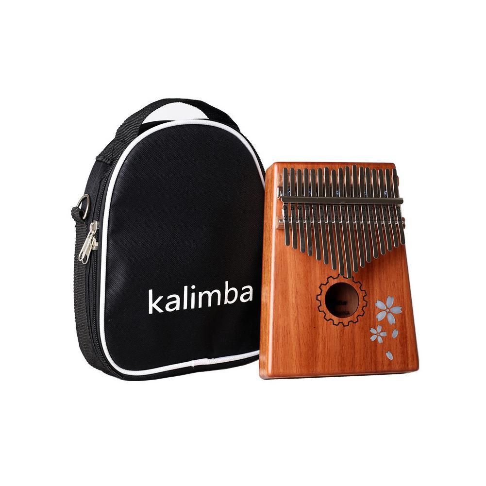 GECKO 17 Keys Kalimba Mbira African Mahogany Finger Thumb Piano Wooden Keyboard Percussion Musical Instrument Gift K-T17M