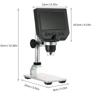 Image 5 - Digital USB Microscope 600X 4.3 LCD Display Electronic Video Magnifier HD 3.6MP CCD Adjustable 8 LEDs1080P/7 UK plug Magnifiers