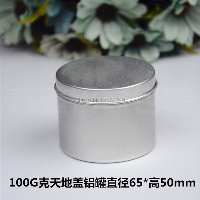 100g 50pcs/lot Refillable empty round aluminum tin cans bottle Direct pressure aluminum cans cosmetic container box aluminum jar цены