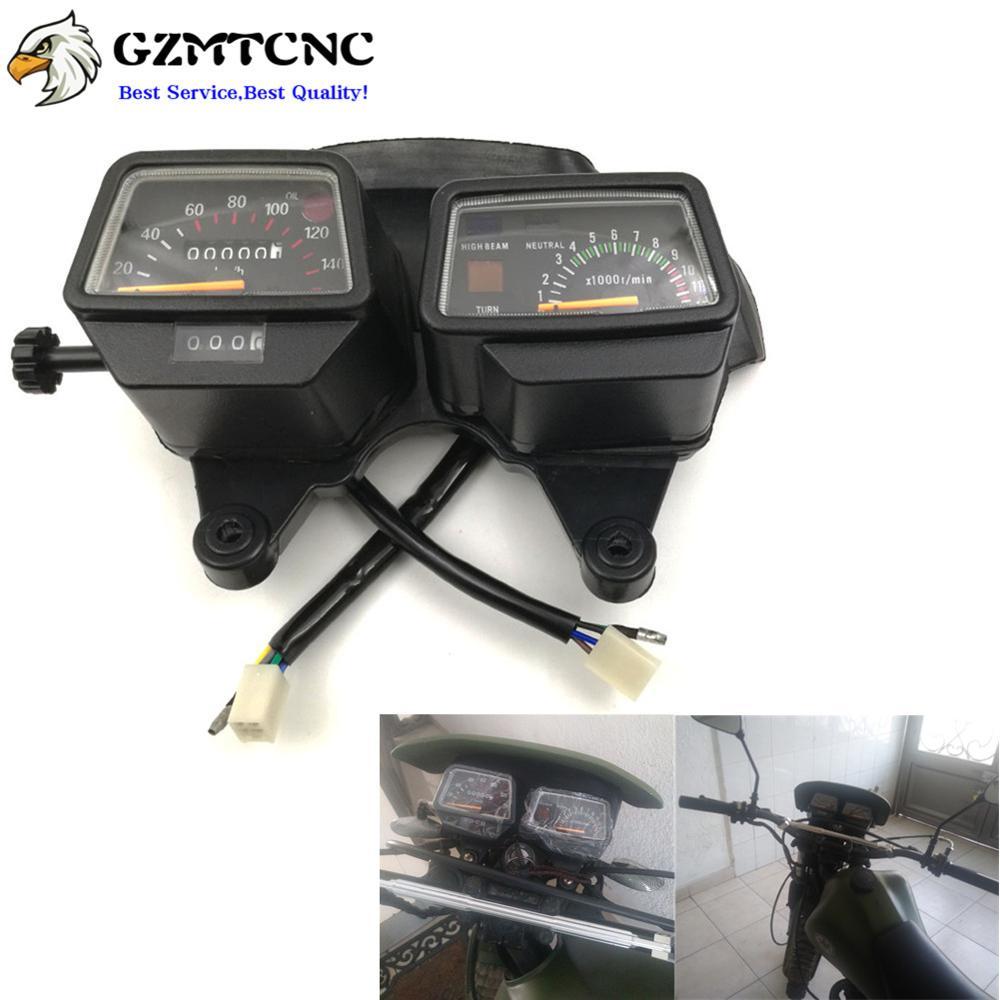 Motorcycle Mechanical gauge instrument Mechanical Speedometer KM/H Tachometer For Yamaha Enduro DT125 R