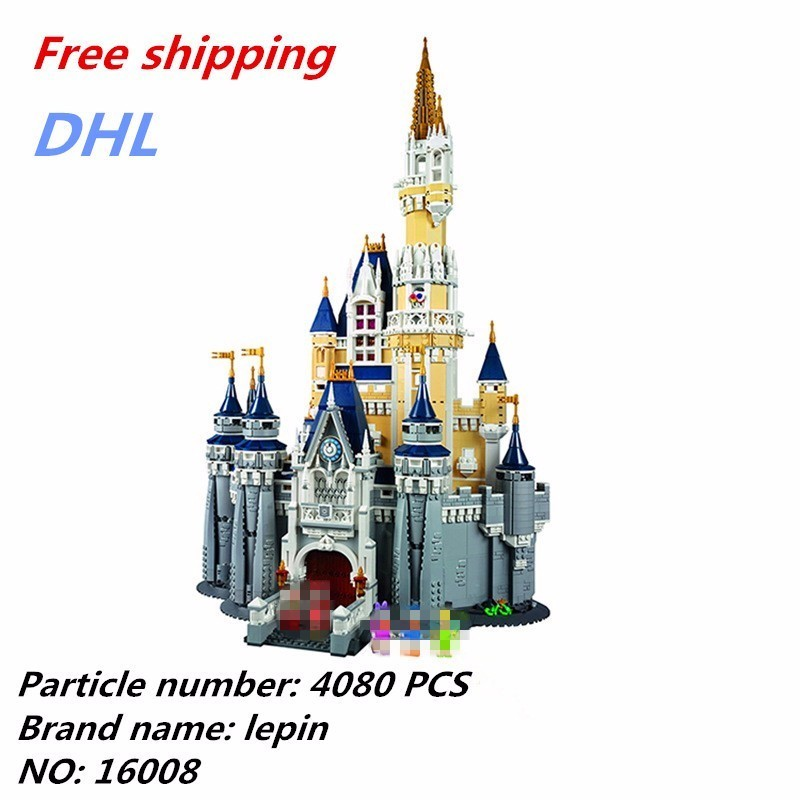 Lepin 16008 Legoing Disneys Cinderella Princess Castle Assembly Model Toys For Children Modern Buildings Plastic Fighting puzzle