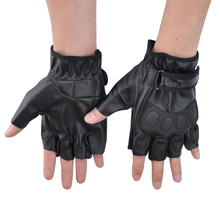 Motorcycle Cycling Outdoor Sport Gloves Fingerless Airsoft Knuckle Half Finger Riding Camping Mountaineering P30
