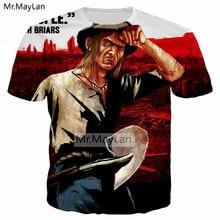 цена на Vintage Style Game Red Dead Redemption 2 Cool 3D Print Tshirt Men/Women Punk Streetwear Tee T shirt 2018 Boy Retro Tops Clothes