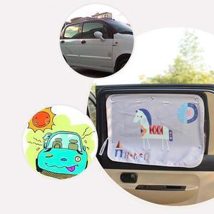 Image 3 - 70*50cm רכב קריקטורה וילון כיסוי שמש חסימת אוטומטי וילון צד חסימת מתיחה שמשיה וילון לילדים לרכב סטיילינג