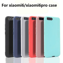 Xindiman silicone case for xiaomi 6 cover soft TPU fundas xiaomi6 matte plain solid color coque 6pro