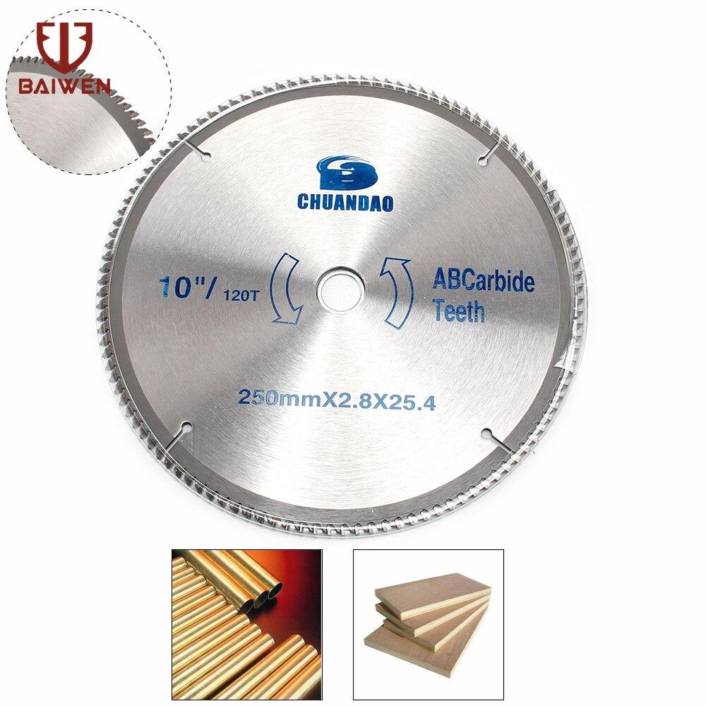 Lame de scie circulaire TCT 10 120 dents pour disque de coupe en aluminiumLame de scie circulaire TCT 10 120 dents pour disque de coupe en aluminium
