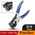 R10 pesado de tarjeta de PVC esquina redondo PAPEL DE Puncher ángulo Nip de acero mango de goma de alicates de la abrazadera de herramientas de 10mm azul