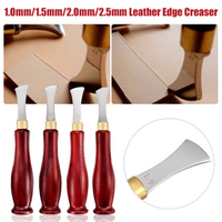 9ce787c27 Stainless Steel Blade Leather Edge Creaser DIY Leather Craft Marking  Decorate Tool 1MM 1 5MM 2MM