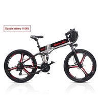 Велосипед объемный гидравлический принят монтаж передний 48v350w 10.4ah + 18ah от него Litio Ebike аккумулятор внутри Li drummer