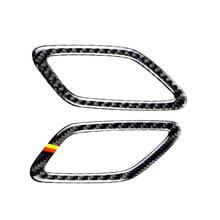 Para mercedes benz a gla cla classe w176 x156 c117 14 17 saída do painel do carro ar condicionado capa de fibra de carbono decoração