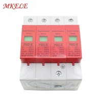 SPD 4P 30KA~60KA ~420VAC Hot Sale AC Surge Protector Protective Low voltage Arrester Device Protector Relay Free Shipping