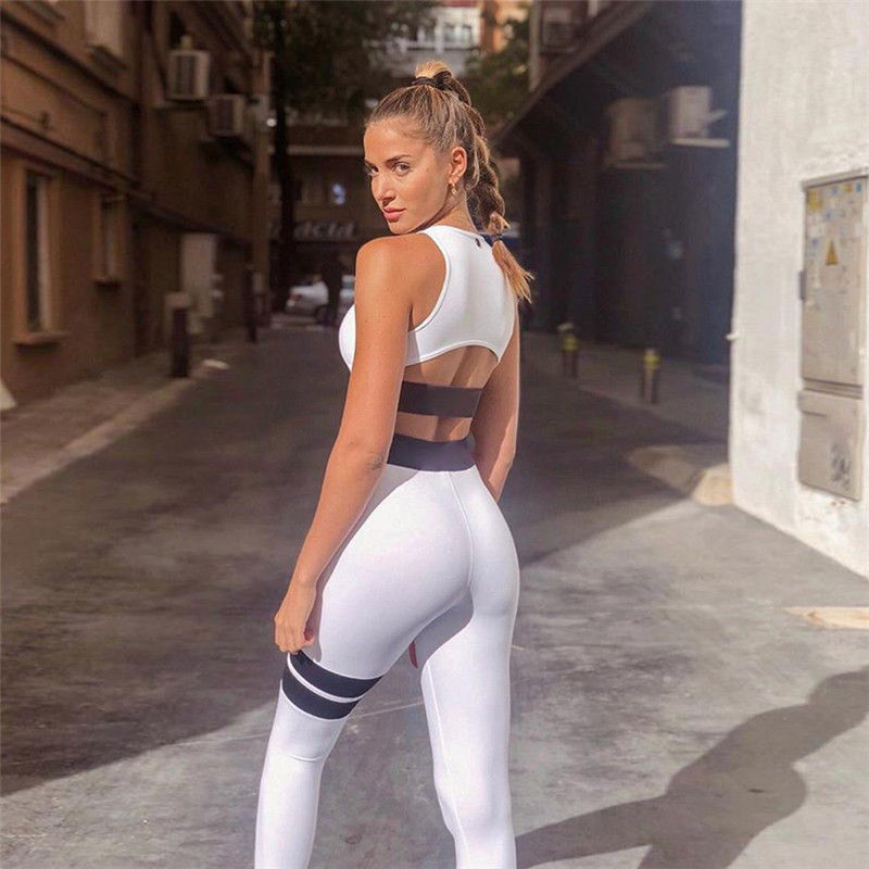 US Women Leggings Fitness Sports Gym Exercise Running Jogging White Blue Burgundy Patchwork Sexy Leggings
