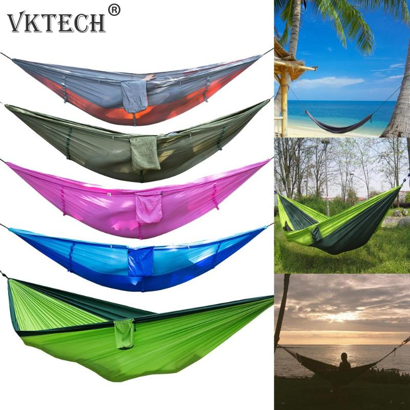 Portable Outdoor Camping Hammock Mosquito Net Nylon Hammock Hanging Bed Sleeping Swing Hang Bed Garden Hammock Drop ShippingPortable Outdoor Camping Hammock Mosquito Net Nylon Hammock Hanging Bed Sleeping Swing Hang Bed Garden Hammock Drop Shipping