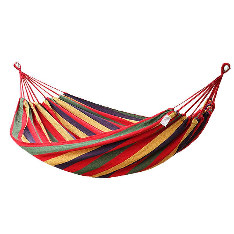 Одноместные качели портативный Открытый Отдых Путешествия Стул Радуга Полосатый деревянный Stick гамак