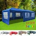 Панияна-Большой Размер 3 м x 9M Водонепроницаемый открытый PE садовый тент-беседка вечерние Свадебная палатка, тент 8 панелей с боковой