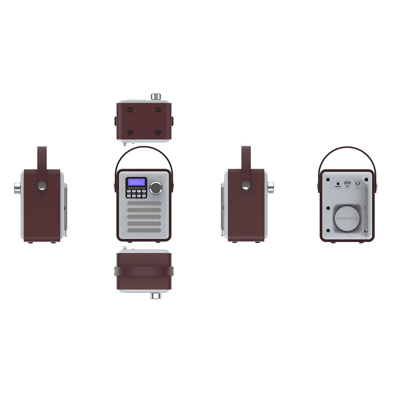 Tuner Digital Radio Empfänger Bluetooth 5,0 Fm Broadcast Aux-in Mp3 Player Unterstützung Tf Karte Eingebaute Batterie Radio Gutherzig Dab/dab