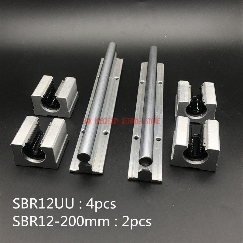 2019 Hot Sale New Arrival AXK 12mm Linear Rail Sbr12 L 200mm Support Rails 2 Pcs + 4 Sbr12uu Blocks For Cnc For Shaft2019 Hot Sale New Arrival AXK 12mm Linear Rail Sbr12 L 200mm Support Rails 2 Pcs + 4 Sbr12uu Blocks For Cnc For Shaft