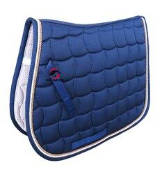 Livraison gratuite tapis de selle de cheval, tissu de selle, polyester 300G, passepoil de corde double, avec dragonne. (PD007)