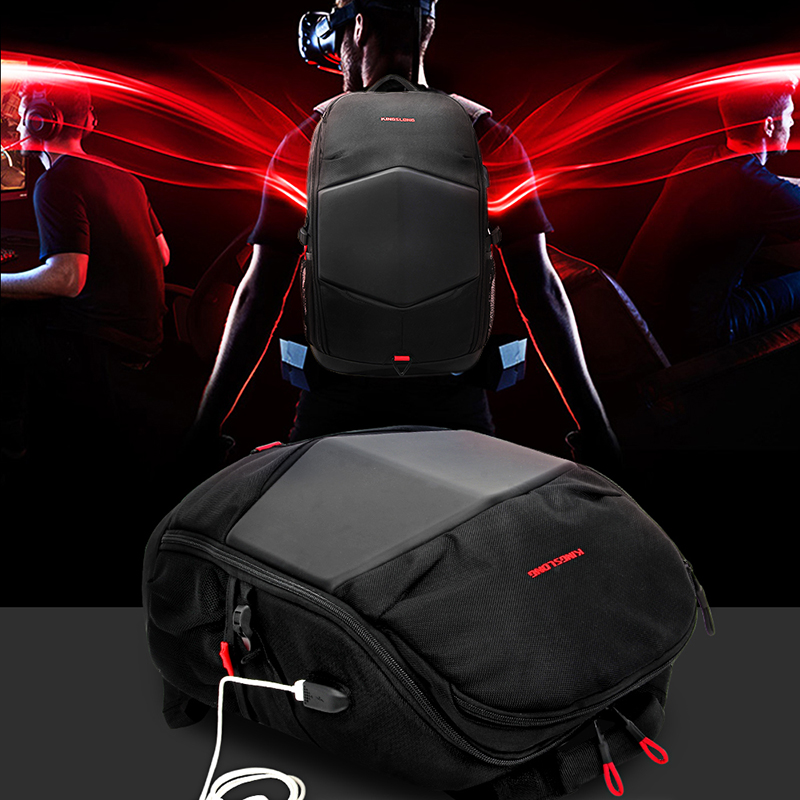 Sac à dos 17.3 pouces sac à dos pour ordinateur portable USB charge haute résistance étanche sac de voyage d'affaires mochila sacs pour femmes et hommes 2018